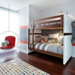 Boy Rooms Modern Room Red Pattern Bunk Bed