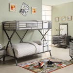 Boys Room Bunk Beds Ethan Diamond Plated Bed