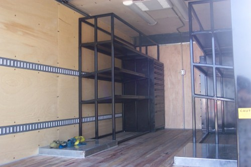Breathing Air Custom Shelving Delivery Box Truck Safe