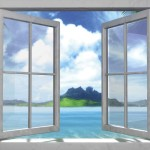 Brewster Paradise Commercial Internal Window Wall Mural