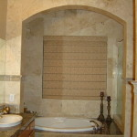 Brings The Nice And Cozy Class Your Bathroom Travertine Tiles
