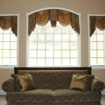 Brown Window Treatment Ideas For Arched Windows