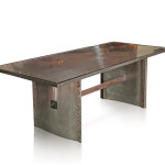 Brushed Steel Dining Table Mid Century Modern