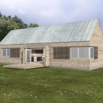 Building Plans Small Home Metal Roof Green Dream