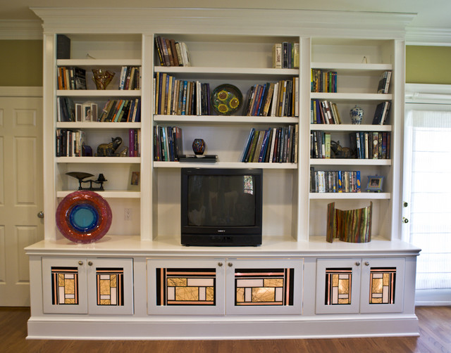 Built Glass Panels Bookcases Cabinets And Computer Armoires