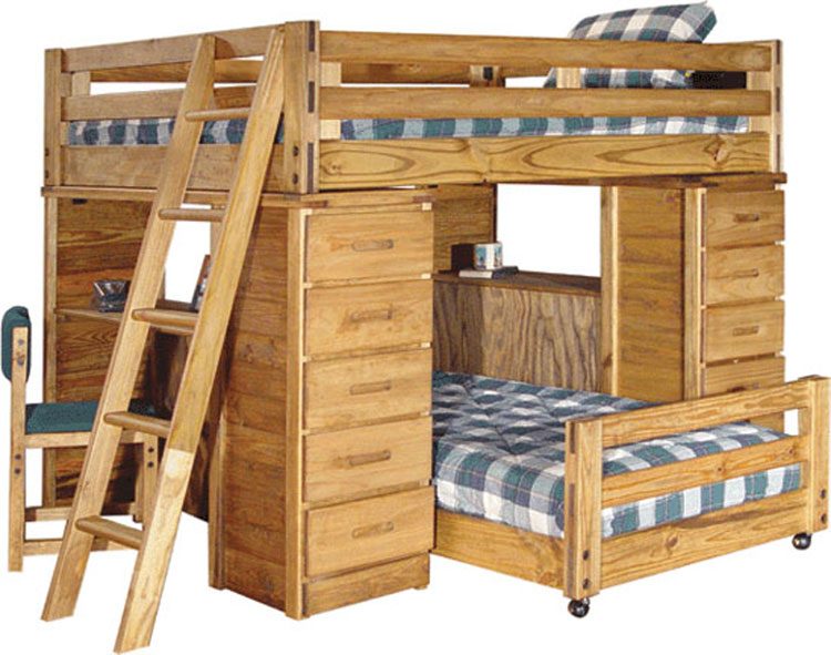 Bunk Beds Come Lockers Included