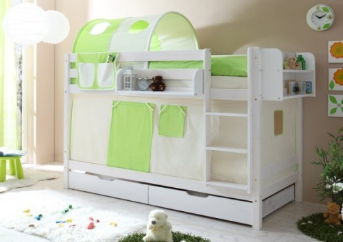 Bunk Beds For Storage Drawers Green And Beige Video Sweet