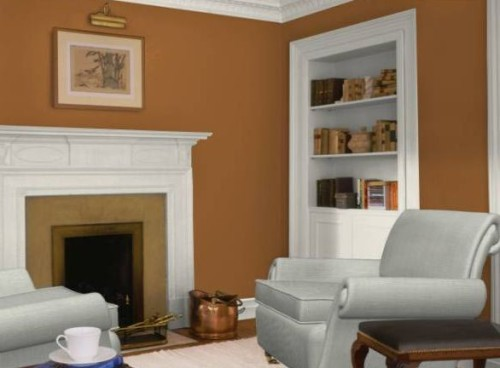 Burnt Orange Living Room Color