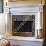 Buy Fireplaces Hand Carved Stone Marble Fireplace For Sale