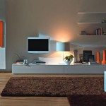 Cabinet And Floating Shelves Living Room Ideas