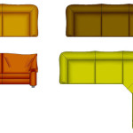 Cad Symbol Archive Colour Furniture Leather Sofas Type