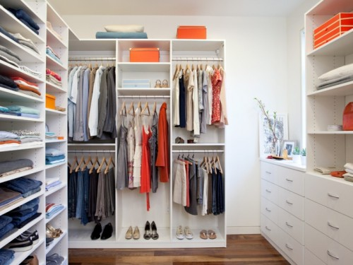 California Closets Walk Closet Suite White