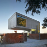 Cantilevered Concrete House Eclectic Design Mirrors