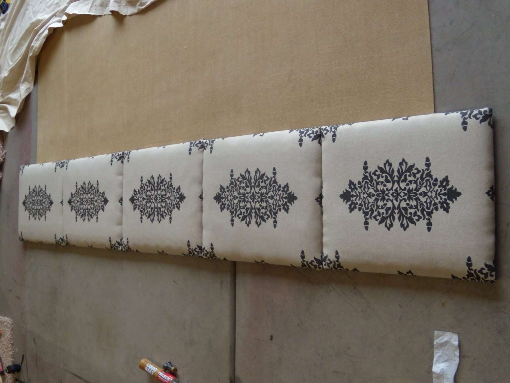 Canvas Headboard From Traditional Modern Impression Fabric