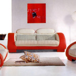 Care Furniture For Long Lasting Red And White Leather