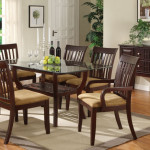 Casual Dining Tables Cappuccino Wood Table And Chairs