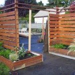 Categorically Modern Fence Planter Boxes Outdoors