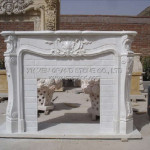 Caved Natural Stone Fireplace China Fireplaces Electric