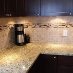 Ceramic Tile Backsplash Glass Inset Idea Only Not Colors