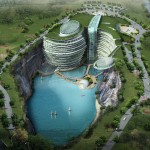 Chinese Quarry Hotel Under Construction Business Insider
