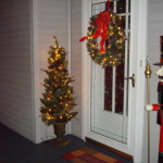 Christmas Decor Front Door Entrance Decorated For