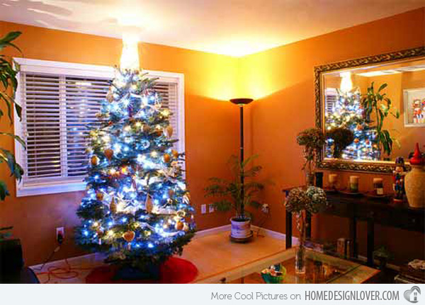 Christmas Decorated Living Rooms Home Design Lover