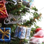 Christmas Decoration Lettering Merry Abstract