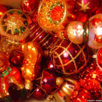 Christmas Decoration Sparkly Ornaments Decorations