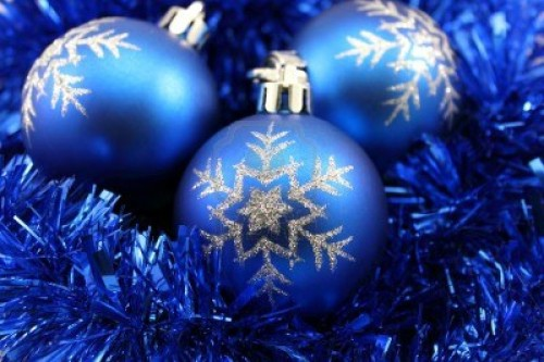 Christmas Decorations Snowflake Blue