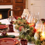 Christmas Table Decoration Stunning Candle Lights Picture