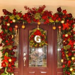 Christmas Traditional Front Door Decor Holiday