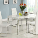 Clarice Modern Dining Set Glossy Table