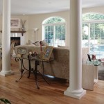Classic Greek Columns Create Generous Living Room Manufacturer