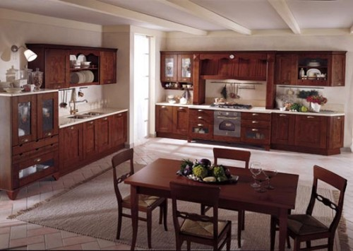Classic Italian Style Wooden Kitchen Design Home Interior