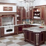Classic Kitchen Design Built Stove And Marble Island