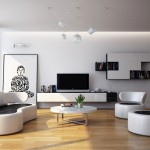 Classically Cool Living Rooms Design Modern Black White Room