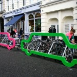 Clever Bike Rack Concept Park Bicycles Instead Single Car