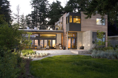 Cliff House Design Eco Friendly Modern Home Bainbridge Island