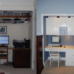 Closet Office White And Blue