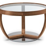 Coffee Table Tonon Glass Round Top Several Sizes Time Small