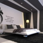 Color Combination Grey Wall Modern Bedroom Ideas Home Constructions