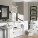 Color For Small Bathroom White And Gray Paint