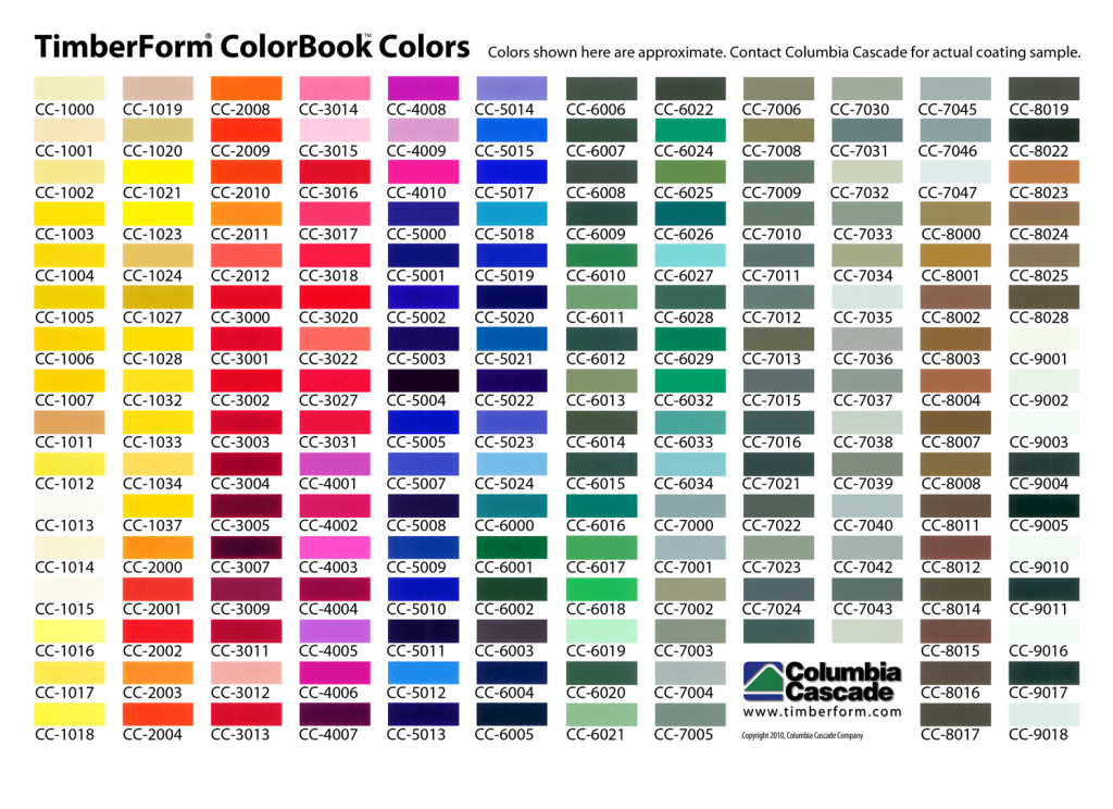 Colorbook Color Options