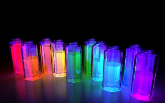 Colorful Glowing Paints