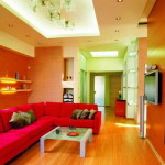Colorful Interior Living Room Color Scheme Red Sofa