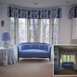 Common Bay Window Treatments Side Pleat Valance And