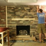 Considering Covering Our Brick Fireplace Stone For The Home
