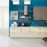 Contemporary Blue Dynamic Kitchen Wall Paint Color Design