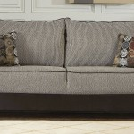 Contemporary Double Sided Dacron Upholstered Loveseat Grey Black