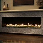 Contemporary Gas Fireplace Glowing Hearth Home Inc